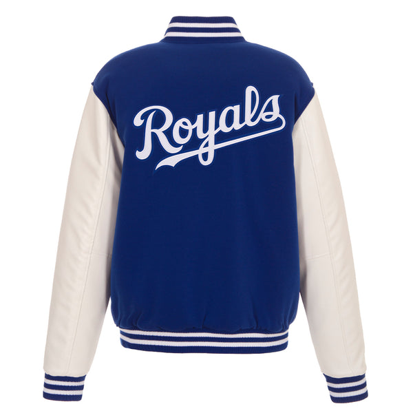 Kansas City Royals Reversible Fleece Jacket with Faux Leather Sleeves