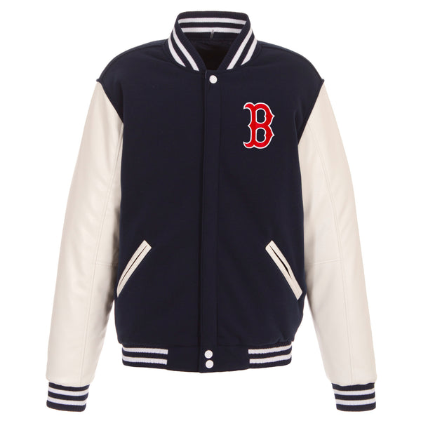 Boston Red Sox Reversible Fleece Jacket with Faux Leather Sleeves