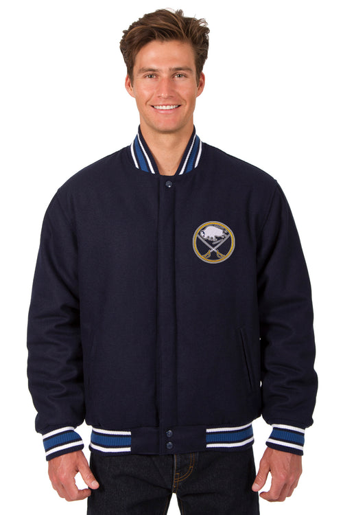 Buffalo Sabres All-Wool Reversible Jacket (Front Logos Only)