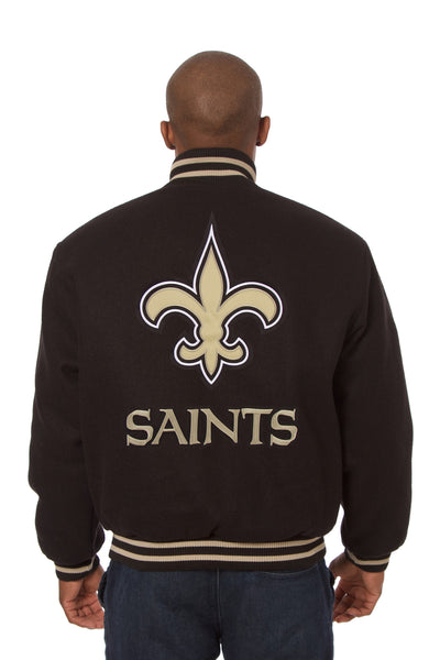 New Orleans Saints Embroidered Wool Jacket
