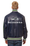 Seattle Seahawks Full Leather Jacket