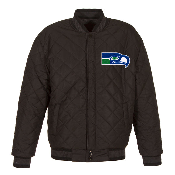 Seattle Seahawks Reversible Wool and Leather Jacket