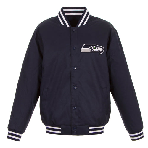 Seattle Seahawks Poly-Twill Jacket (Front Logo Only)