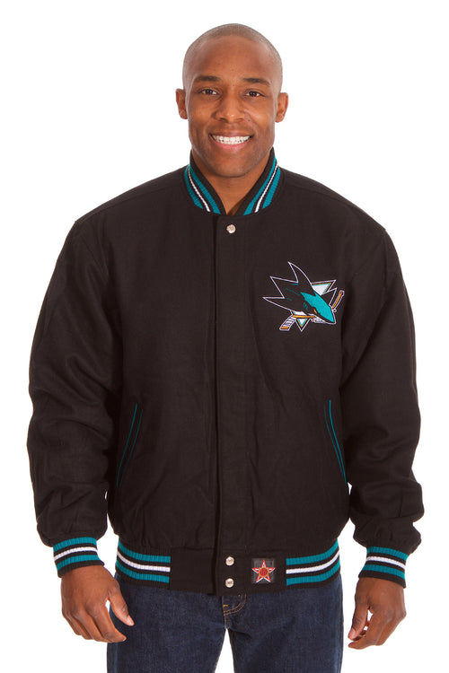 San Jose Sharks Reversible Wool Jacket