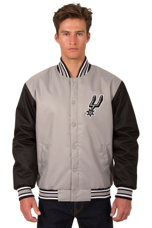 San Antonio Spurs Poly-Twill Jacket (Front and Back Logo)