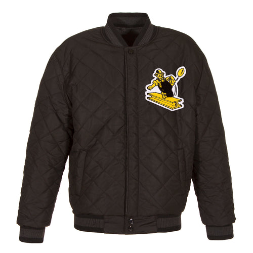 Pittsburgh Steelers Reversible Wool and Leather Jacket