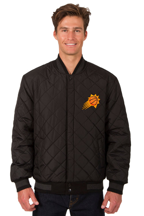 Phoenix Suns Reversible Wool and Leather Jacket (Front Logos Only)