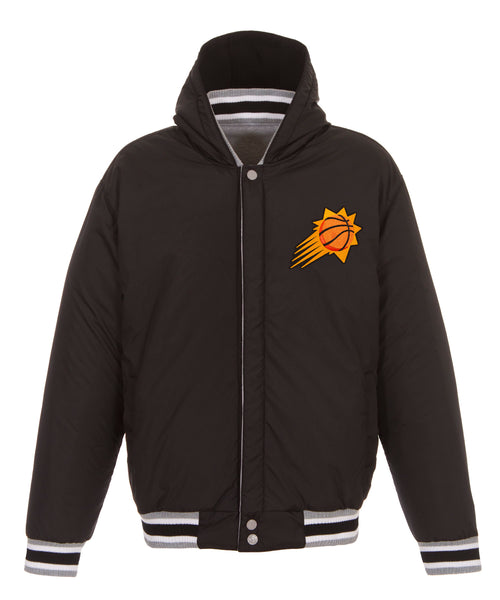 Phoenix Suns Reversible Fleece and Faux Leather Jacket