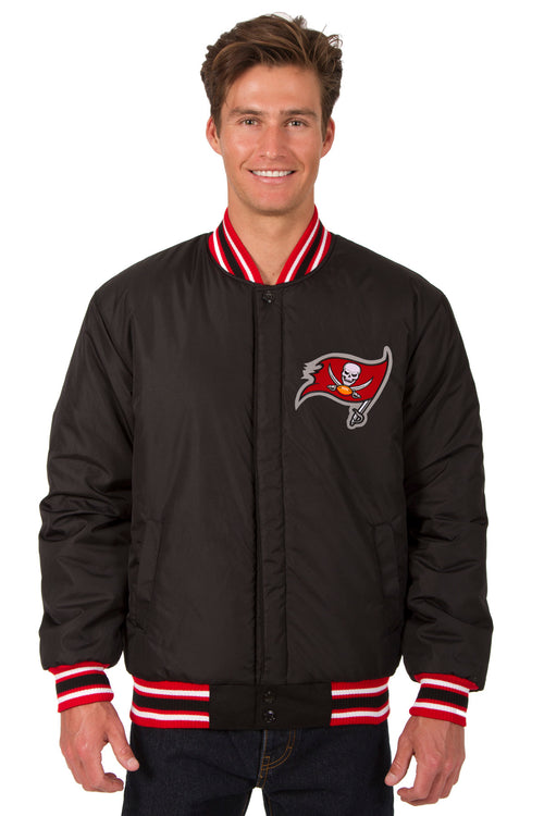 Tampa Bay Buccaneers All-Wool Reversible Jacket (Front Logos Only)