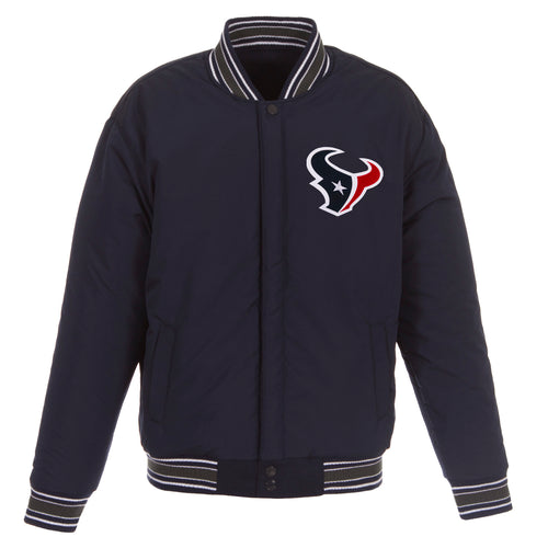 Houston Texans Reversible Wool Jacket (Front Logos Only)