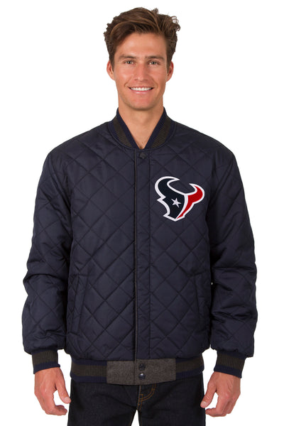 Houston Texans Reversible Wool and Leather Jacket