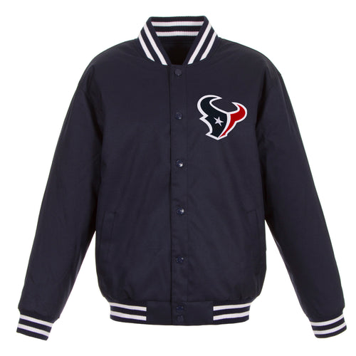 Houston Texans Poly-Twill Jacket (Front and Back Logo)
