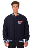 Oklahoma City Thunder Reversible All-Wool Jacket (Front logo Only)