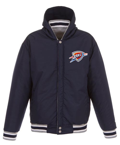 Oklahoma City Thunder Reversible Fleece and Faux Leather Jacket