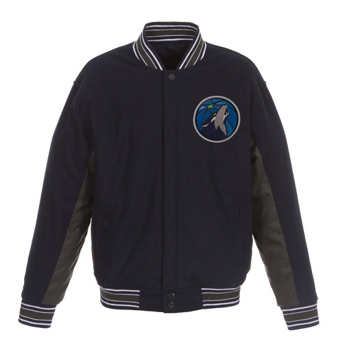 Minnesota Timberwolves Reversible Wool Jacket (Front Logos Only)