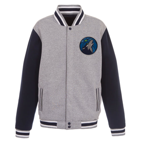 Minnesota Timberwolves Reversible Fleece Jacket (Front Logos Only)