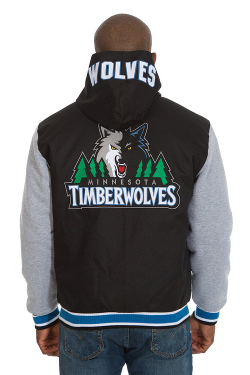 Minnesota Timberwolves Reversible Poly-Twill Jacket