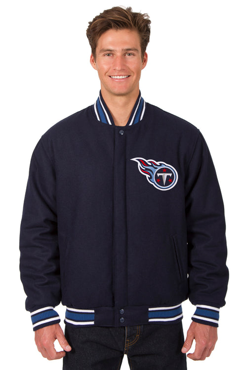 Tennessee Titans All-Wool Reversible Jacket (Front Logos Only)