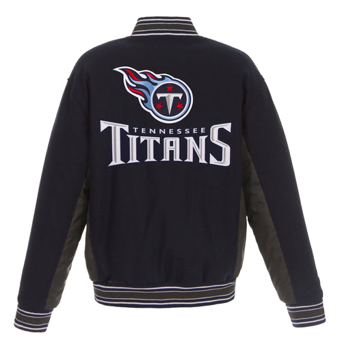Tennessee Titans Reversible Wool Jacket (Front and Back Logos)