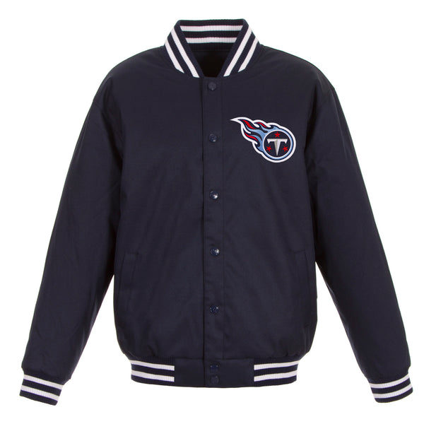 Tennessee Titans Poly-Twill Jacket (Front and Back Logo)