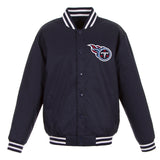 Tennessee Titans Poly-Twill Jacket (Front Logo Only)