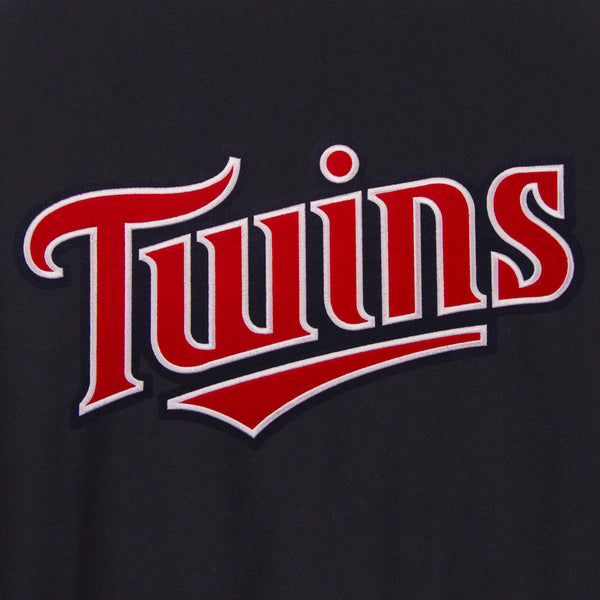 Minnesota Twins Reversible Wool Jacket (Front and Back Logos)