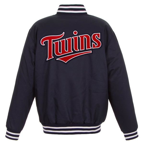 Minnesota Twins Poly-Twill Jacket (Front and Back Logo)