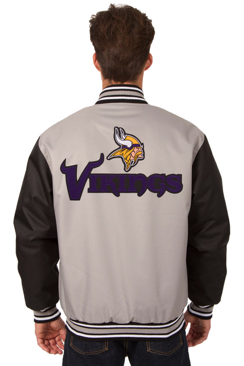 Minnesota Vikings Poly-Twill Jacket (Front and Back Logo)