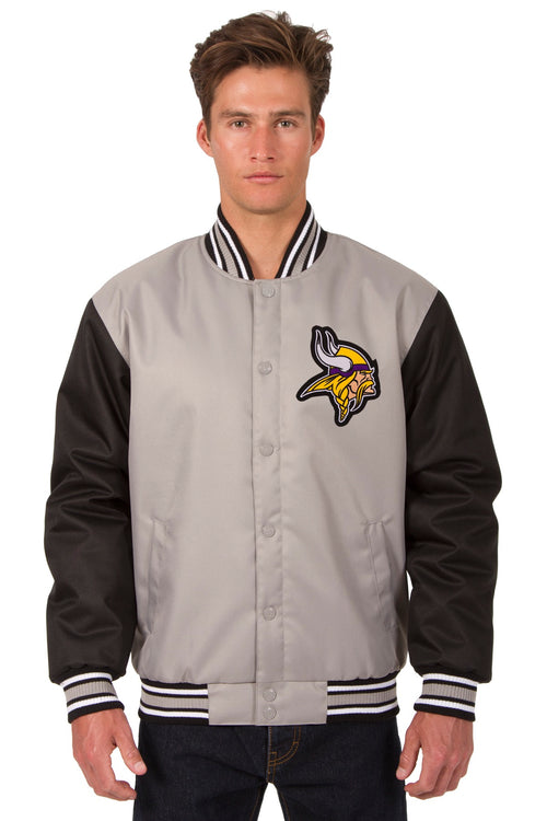 Minnesota Vikings Poly-Twill Jacket (Front Logo Only)