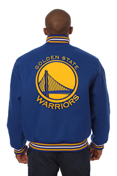 Golden State Warriors Embroidered Wool Jacket