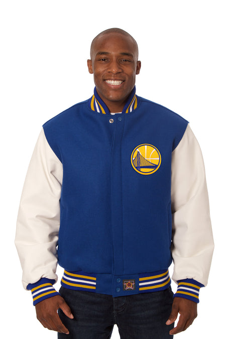 Golden State Warriors Reversible All-Wool Jacket (Front Logos Only)