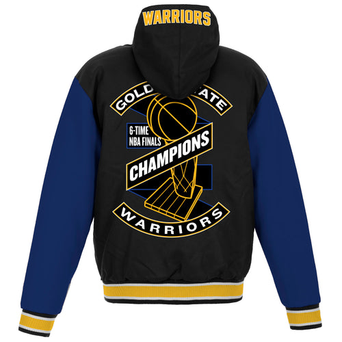 Golden State Warriors Championship Reversible Poly-Twill Jacket