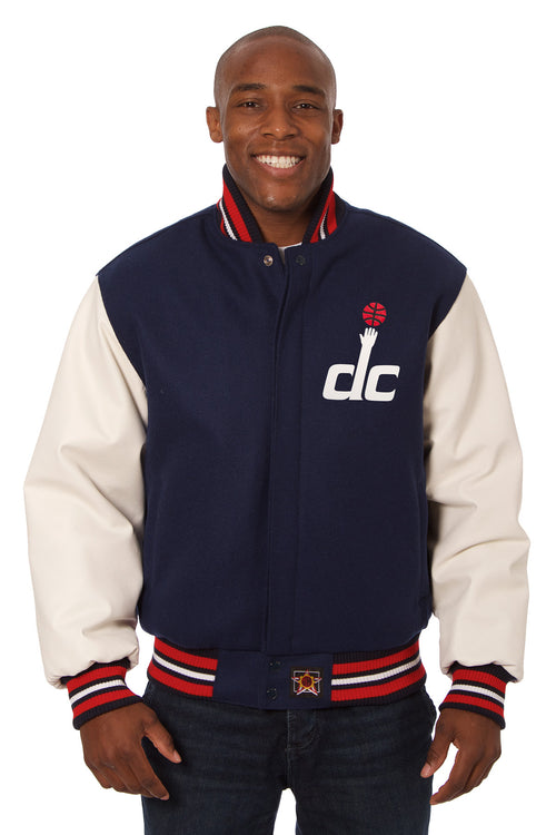 Washington Wizards Domestic Wool and Leather Jacket