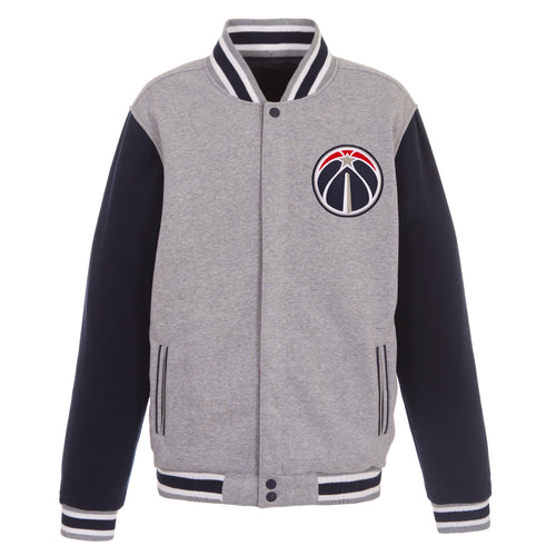 Washington Wizards Reversible Fleece Jacket (Front Logos Only)