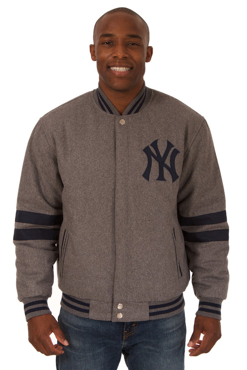New York Yankees Reversible Wool Jacket