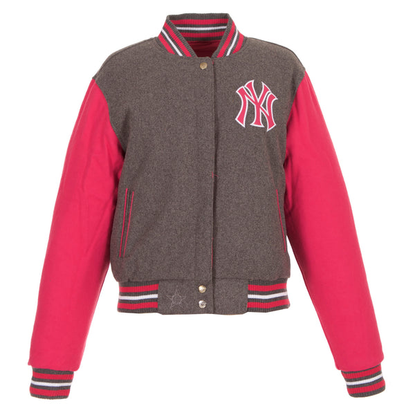 New York Yankees Ladies Reversible Wool Jacket