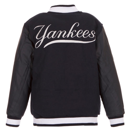 New York Yankees Kid's Reversible Poly-Melton Jacket