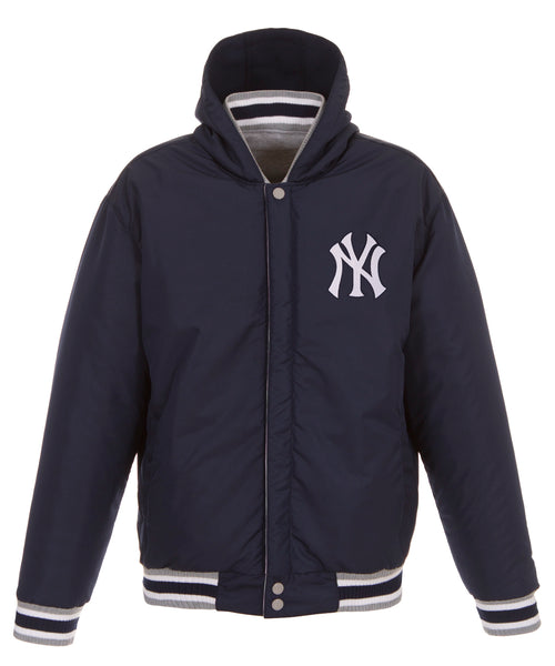 New York Yankees Reversible Fleece and Faux Leather Jacket