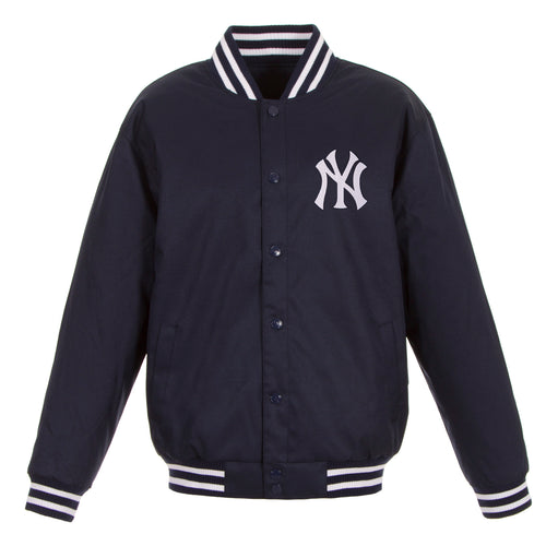 New York Yankees Poly-Twill Jacket (Front and Back Logo)