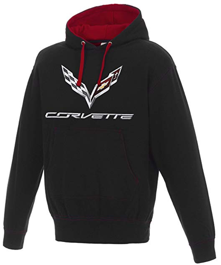 Corvette Two-Tone Pull-Over Hooded Sweatshirt
