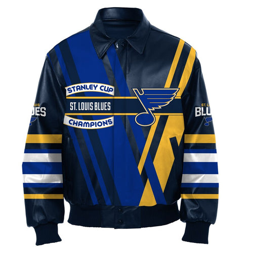St. Louis Blues Stanley Cup Champions All Leather Jacket