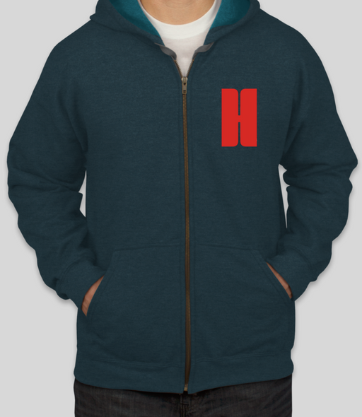 Vintage Athlete Zip Up Hoodie