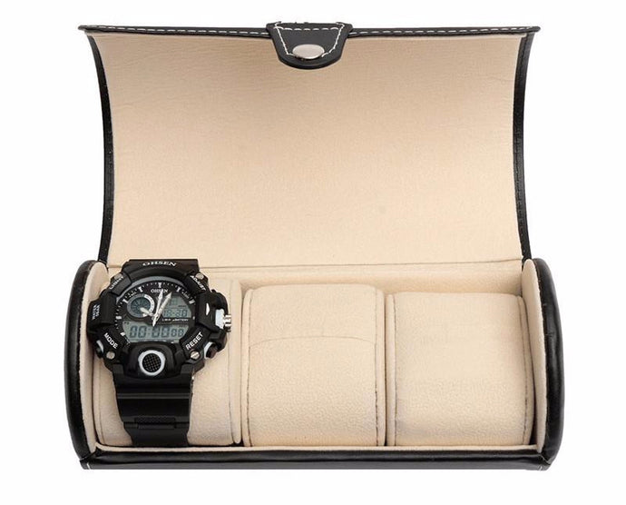 Travel Watch Case, Three Watches