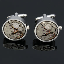 Round Edged Watch Movement Cufflinks