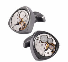 Tri-Sided Watch Movement Cufflinks