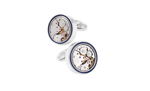 Blue Banded, Watch Movement Cufflinks