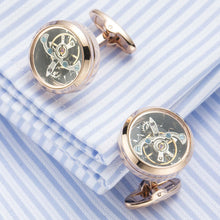 Tourbillon Cuff Links, Smooth Edge