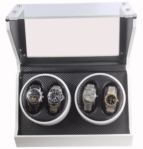 Helix Carbon Fiber, Quad Watch Winder