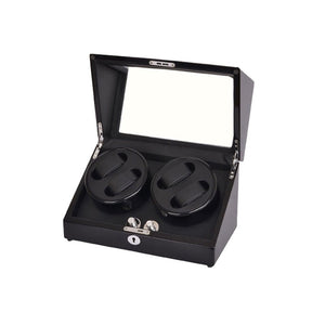 Piano Black, Locking Quad Watch winder