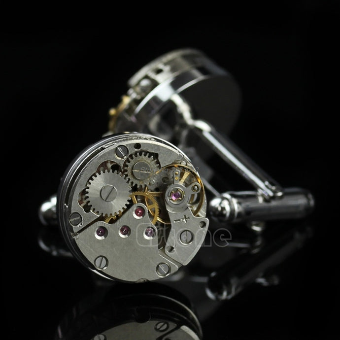 Exposed Classic Watch Movement Cufflinks
